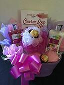 Relaxation spa gift baskets, bath baskets