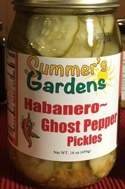 Habanero Ghost pepper pickles