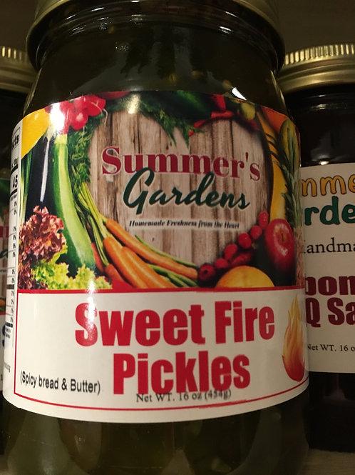 Sweet Fire Pickles