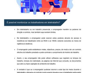 É possível monitorizar os trabalhadores em teletrabalho?
