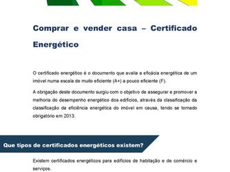 Comprar e Vender Casa - Certificado Energético
