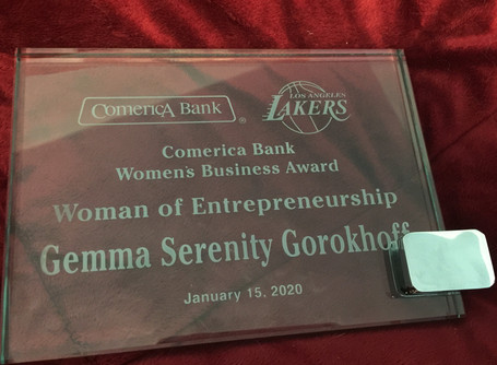 And the Woman of Entrepreneurship Award goes to Gemma Serenity Gorokhoff