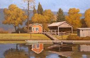 Autumn in the Mauntains Oil on Canvas Pa