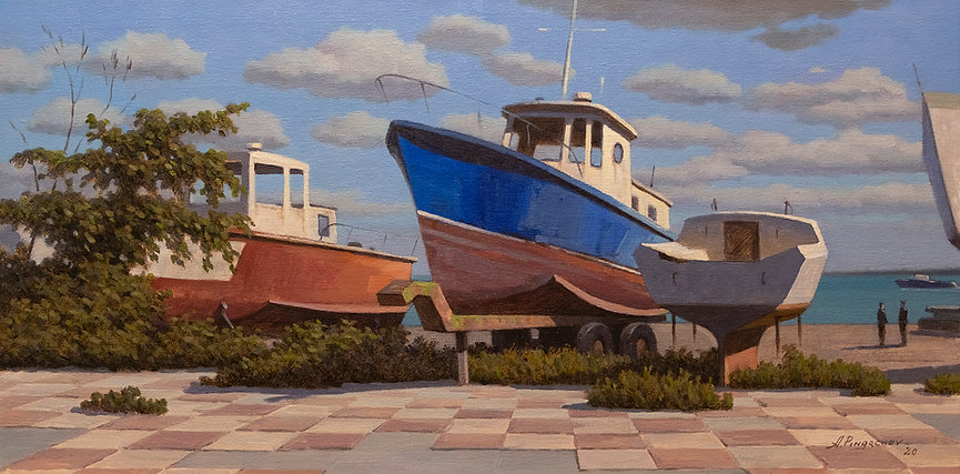 Old Dock Oil on Canvas Panel 12x24.jpg