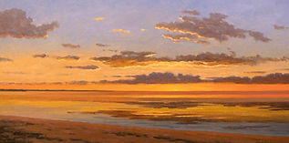 Golden Sunset Oil on Canvas 12x24.jpg
