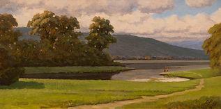 Sunny day Oil on Canvas Panel 8x16.jpg