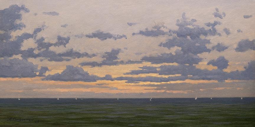 Sunset#3 Oil on Canvas Panel 12x24.jpg
