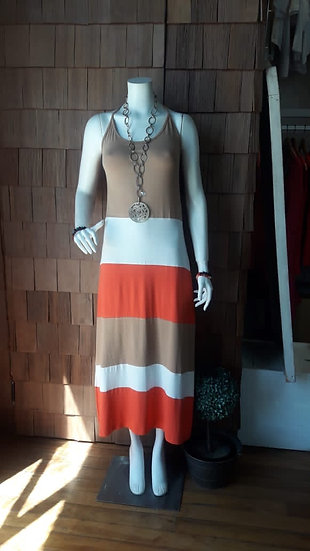 Vestido Alerce pabilo mandarina beige crudo
