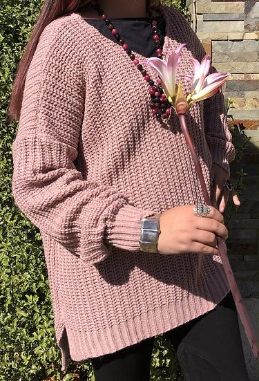 Tejido Azalea rosa talla única