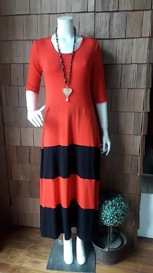 Vestido Alerce rojo negro