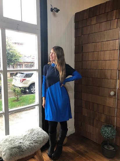 Mini Vestido ULMO -  bicolor