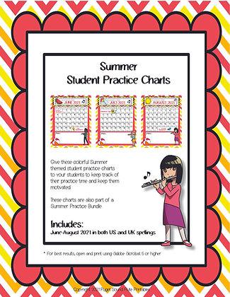 Summer Student Practice Calendar