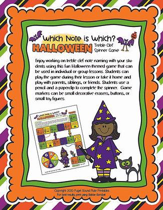 Halloween Name Spinner Game