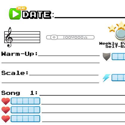 Video Game Assignment Sheet