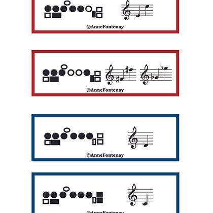 Flute Fingering Magnet Cards