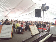 Playing to a packed tent...so packed tha
