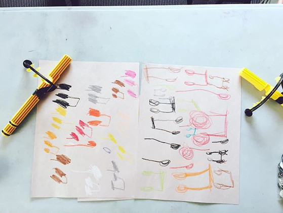 Learning our rhythms by drawing while li