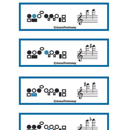 Flute Fingering Trill Cards