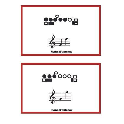Flute Fingering Cards