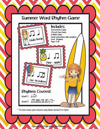 Summer Student Word Rhythm Game