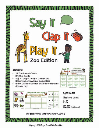 Say It, Clap It, Play It!: Zoo Edition