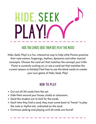 Hide, Seek, Play! (shamrock edition)