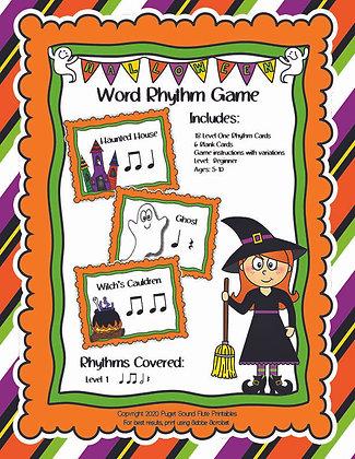 Halloween Word Rhythm Game