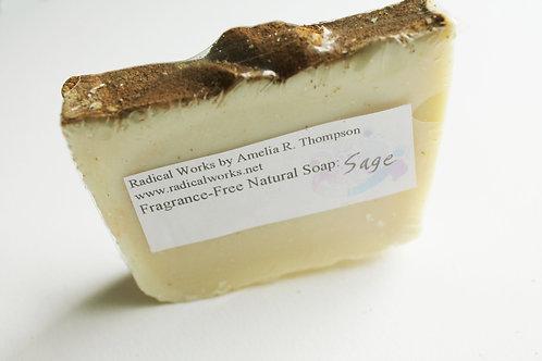 Sage Soap - Fragrance Free Natural Soap