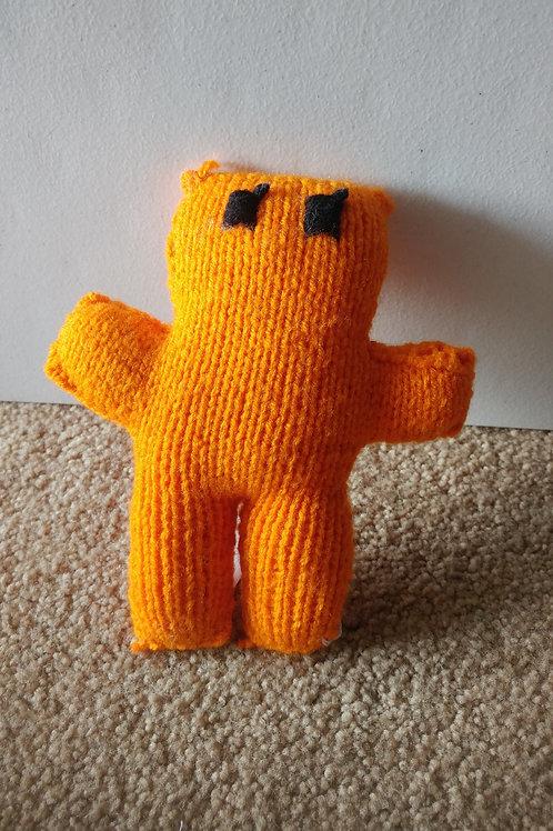 Orange Small Teddy Bear Plush Toy