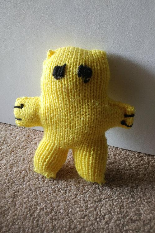 Yellow Small Teddy Bear Plush Toy
