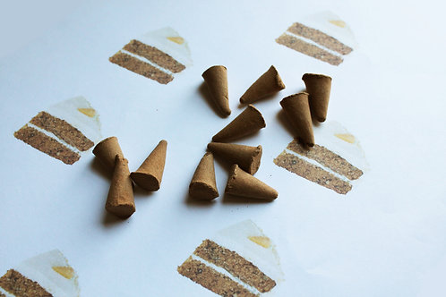 Carrot Cake Scented Natural Cone Incense