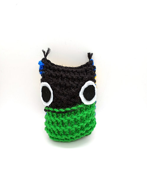 Black Multicolored Tiny Radical Owl