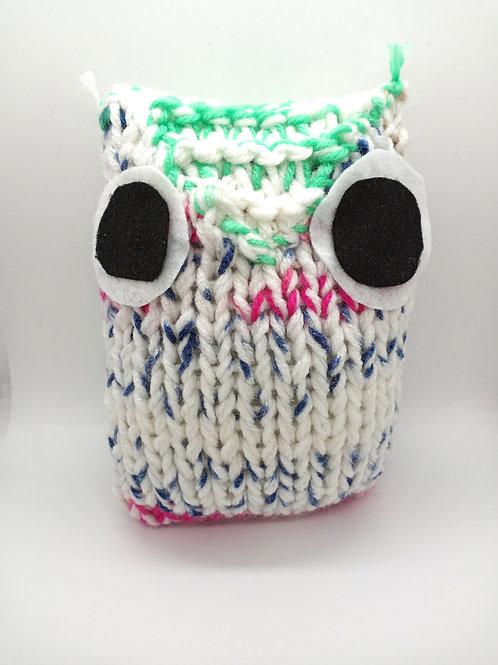 White Multicolored Radical Owl Stuffed Toy
