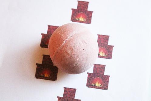 Fireplace Scented Vegan Bath Bomb