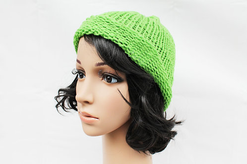 Lime Green Beanie Hat