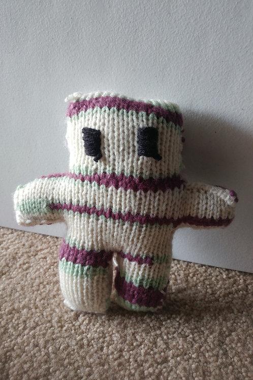 White Purple Green Small Teddy Bear Plush Toy