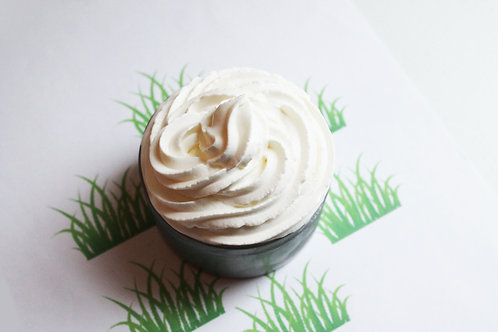 Fresh Cut Grass Natural Vegan Whipped Soap