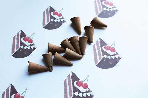 German Chocolate Cake Scented Cone Incense