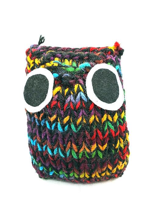 Black Multicolored Radical Owl Stuffed Toy