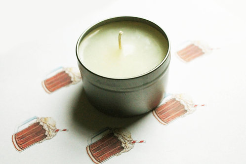 Root Beer Scented Natural Vegan Tin Candle