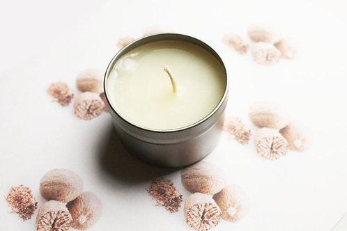Nutmeg Scented Natural Vegan Tin Candle