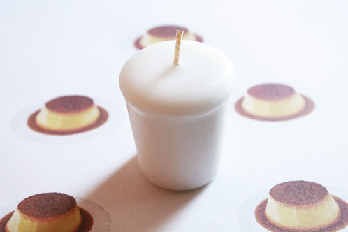 Flan Scented Votive Candle