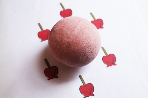 Candied Apple Scented Vegan Bath Bomb