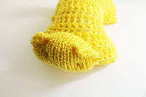 Yellow Kitty Plush Toy Stuffed Animal