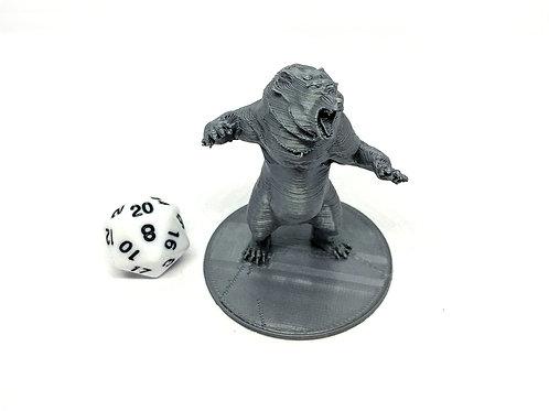 Dire Bear - 3D Printed Unpainted Miniature