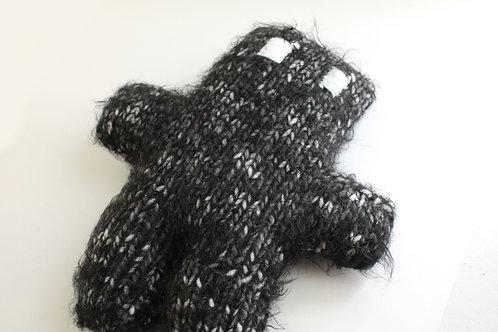 Fuzzy Black Small Teddy Bear Plush Toy