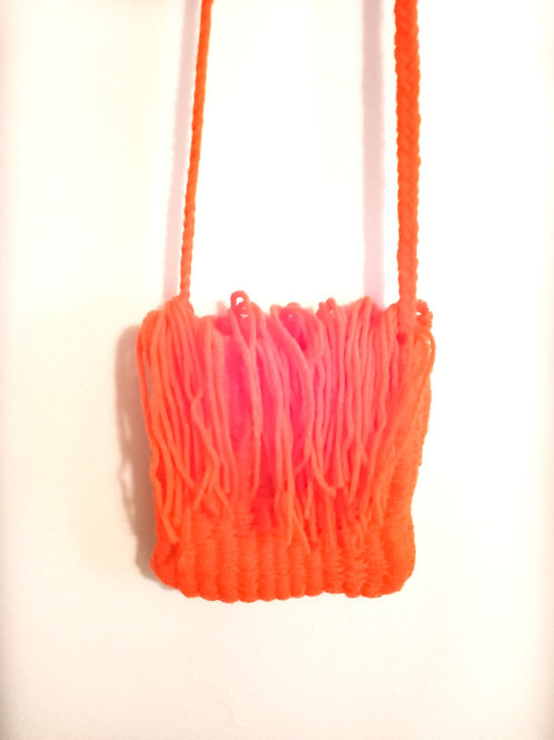 Orange Tassels Cross Body Bag