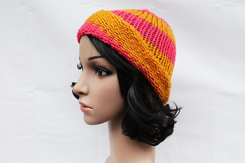Orange & Pink Beanie Hat