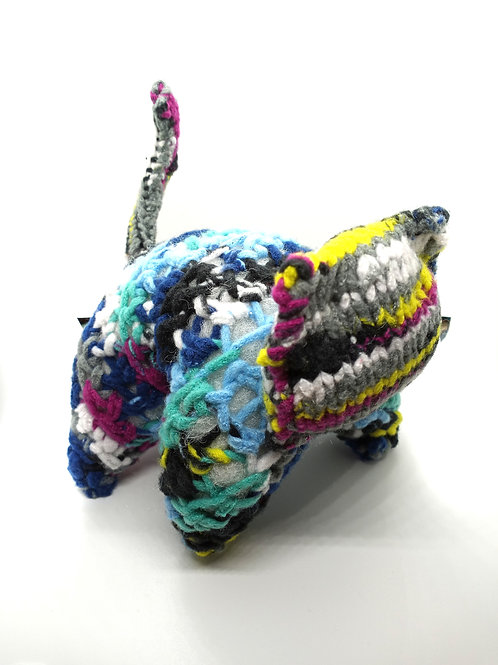 Multicolored Fleece Radical Kitty Plush