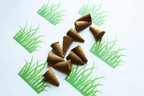 Fresh Cut Grass Scented Cone Incense